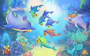 Семейство дельфинов