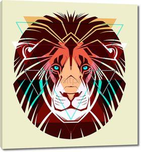 Лев. Мода Иллюстрация