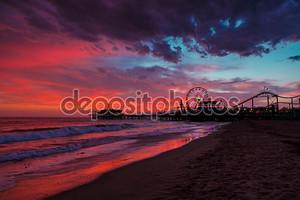 Пирс Санта-Моники на закате