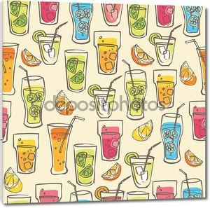 коктейль напитки шаблон