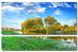 Тихая река осенью