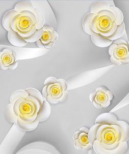 Цветы с шелковыми лентами