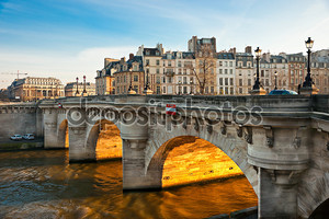 Pont neuf, ссылаются на Иль-де-ла, Париж - Франция