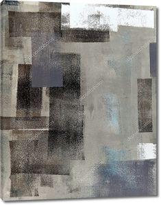 Коричневый и серый абстрактное искусство Живопись