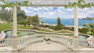 Вид с большой террасы на море