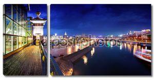 Ночная Москва. Москва река.