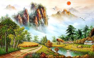 Речушка у подножия гор