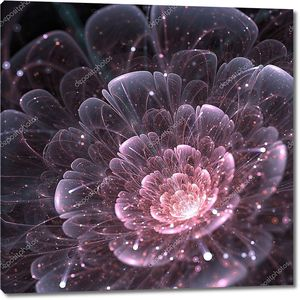 Розовый абстрактный цветок
