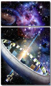 Космический корабль чужой мир мир-кольцо