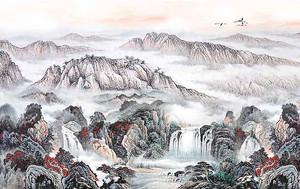 Водопады с вершин гор