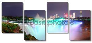 Ниагарский водопад в световом шоу