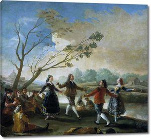 Гойя. Танцы на берегу реки Мансанарес