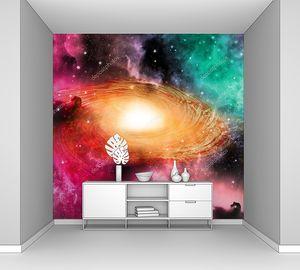 Спиральная  красочная галактика