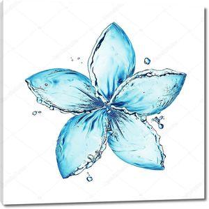 Цветок из плеска воды