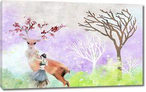 Девочка с оленем