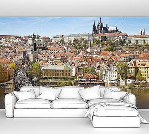 Прага панорама с берега
