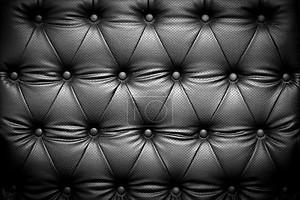 Черная кожа текстура с застегнутой узором