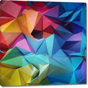 Абстрактный геометрический  разноцветный фон