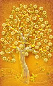 Яркое желтое дерево