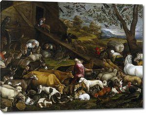 Бассано Якопо. Вход животных в Ноев ковчег