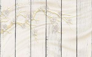Ветка сакуры на шелке