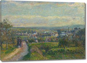 Камиль Писсарро. Вид на Сент-Уэн-ла Амон