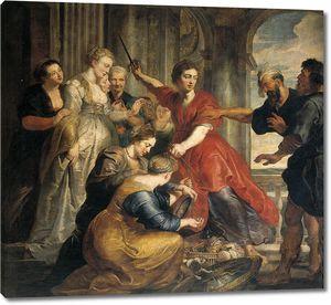 Рубенс. Обнаружение Ахиллеса Одиссеем и Диомидом среди дочерей Ликомеда