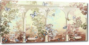Бабочки и колонны