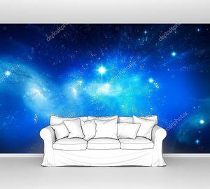 Галактика красивый голубой фон