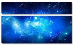 Галактика красивые голубой фон