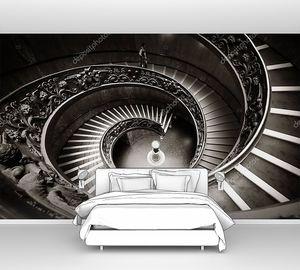 Спиральная лестница в музее Ватикана.