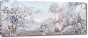 Пальмовый лес в светлых тонах
