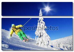 Скоростной спуск с высокой горы