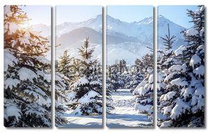 Зимой горные пейзажи