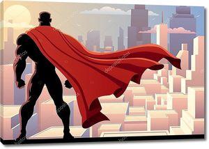 Супергерой, следящий за городом.