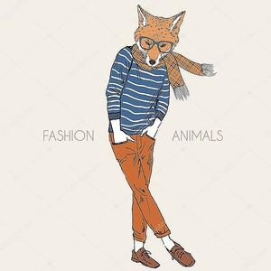 Иллюстрация моды Фокс мальчика