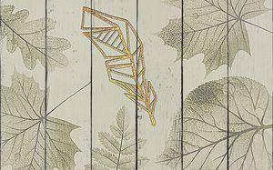 Узор из листьев клена и дуба