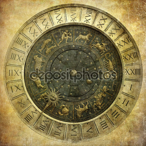 Vintage image of Venetian clock