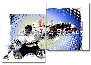 Плакат с игроком в хоккей