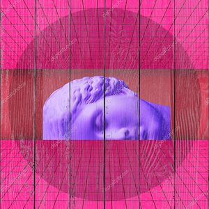 Плакат современного концептуального искусства с древней статуей бюста Венеры. Коллаж современного искусства .