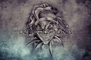 дизайн татуировки на сером фоне