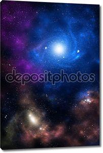 Синий и коричневый пространство Галактики
