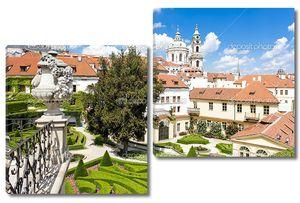 Вртбовский сад и церковь Святого Николая, Праге, Чешской republ