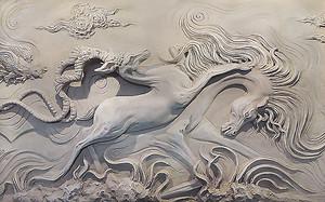Гипсовые фигуры лошадей