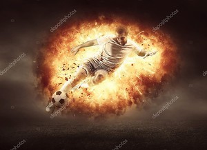 Футболист в огне