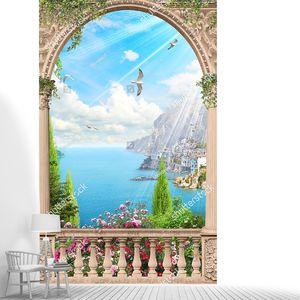 Вид из арочной террасы на залив