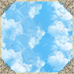 Небо с орнаментом по углам