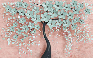Дерево в бирюзовом цвету
