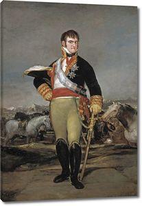 Гойя и Лусиентес Франсиско де. Фердинанд VII в военном лагере