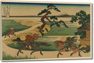 Кацусика Хокусай. Деревня Сэкия на реке Сумида